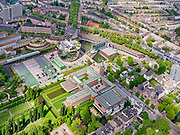 Nederland, Zuid-Holland, Rotterdam; 14-05-2020; Museumpark met Museum Boijmans Van Beuningen. Naast het Museum het Depot Boijmans van Beuningen in aanbouw (architect Winy Maas - MVRDV). Aan de Rochussenstraat het Nieuwe Instituut (NAi - Nederlands Architectuur Instituut).<br /> Museumpark with Museum Boijmans Van Beuningen. Next to the Museum the Boijmans van Beuningen Depot is under construction (architect Winy Maas - MVRDV).<br /> <br /> luchtfoto (toeslag op standard tarieven);<br /> aerial photo (additional fee required)<br /> copyright © 2020 foto/photo Siebe Swart