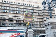 Tourist information signs on Paseo del Prado, Madrid, Spain