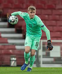 Rúnar Rúnarsson (Island) under kampen i Nations League mellem Danmark og Island den 15. november 2020 i Parken, København (Foto: Claus Birch).