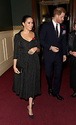 Duke and Duchess of Sussex attend the annual Royal British Legion Festival of Remembrance at the Royal Albert Hall in Kensington, London.