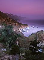 Sunset along the south coast of Big Sur.
