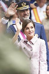May 26, 2018 - Logrono, La Rioja, Spain - King Felipe VI of Spain, Queen Letizia of Spain attended the Armed Forces Day Homage on May 26, 2018 in Logrono, La Rioja, Spain (Credit Image: © Jack Abuin via ZUMA Wire)