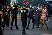 Conor McGregor arrives before his fight against Chad Mendes during UFC 189 at the MGM Grand Garden Arena in Las Vegas, Nevada on July 11, 2015. (Cooper Neill)