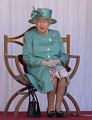 The Queen attends a ceremony to mark her official Birthday - 13 June 2020