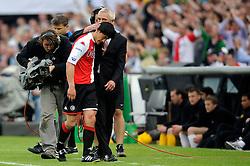 27-04-2008 VOETBAL: KNVB BEKERFINALE FEYENOORD - RODA JC: ROTTERDAM <br /> Feyenoord wint de KNVB beker - Michael Mols en Bert van Marwijk<br /> ©2008-WWW.FOTOHOOGENDOORN.NL