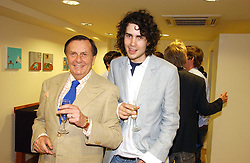 Left to right, BARRY HUMPHRIES and RUPERT HUMPHRIES at an exhibition of art by Oscar Humphries entitles 'Post-Nuclear Family' held at Nutters, Lower Ground, 12 Savile Row, London on 8th June 2006.<br /><br />NON EXCLUSIVE - WORLD RIGHTS