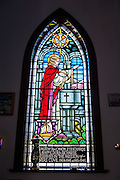 Stained glass in a Church in Flower Cove, New Foundland, Canada