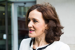 London, January 28 2018. Former Northern Ireland Secretary Theresa Villiers arrives at the BBC's New Broadcasting House in London prior to appearing on Sunday Politics. © Paul Davey