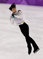 February 17, 2018 - Gangneung, South Korea - Ice skater YUZURU HANYU of Japan competes winning a gold medal during the Men's Figure Skating at the PyeongChang 2018 Winter Olympic Games at Gangneung Ice Arena. (Credit Image: © Paul Kitagaki Jr. via ZUMA Wire)
