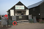 Fresh fish stall, Southwold harbour, Suffolk, England