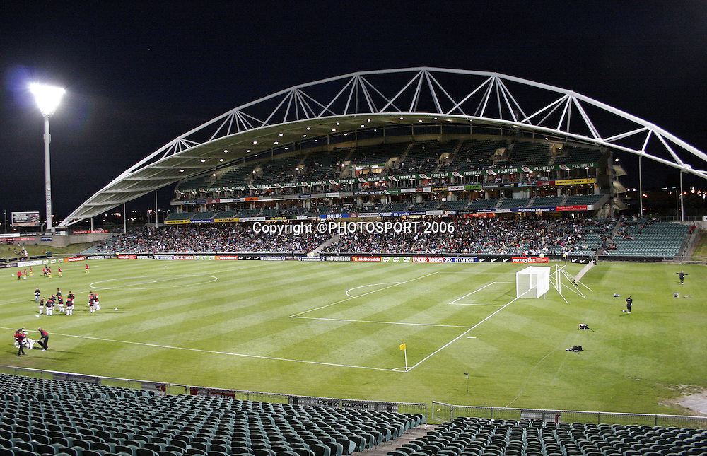 A good crowd turned up for the 2nd international friendly match between the New Zealand All Whites and Malaysia at North Harbour Stadium, Auckland on Thursday 23 February 2006. New Zealand won the match 2:1. Photo: Andy Song/PHOTOSPORT