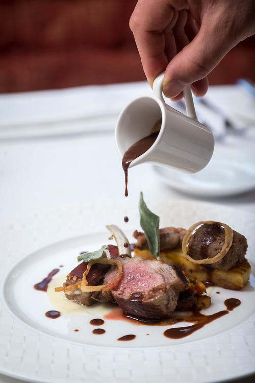 Chef David Butters at Douneside House Tarland, Aberdeenshire<br /> <br /> <br /> PIC DEREK IRONSIDE / NEWSLINE MEDIA