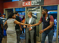 Jumaane Williams, the Democratic candidate for Lieutenant Governor of New York, invites Gubernatorial candidate Cynthia Nixon, to campaign with him in his neighborhood, Flatbush, Brooklyn. Their final stop was at the Church Ave subway station.