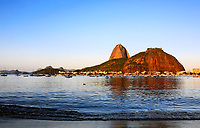 the sugar loaf at sunset in rio de janeiro brazil