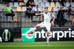 Ziga Kous of NS Mura  during football match between NS Mura and Vitesse (NED) in 1st round of UEFA Europa Conference League 2021/22, on 16 of September, 2021 in Ljudski Vrt, Maribor, Slovenia. Photo by Blaž Weindorfer / Sportida