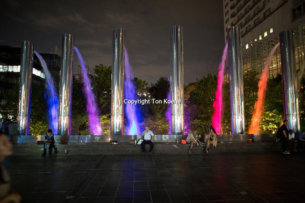 fountain in Osaka