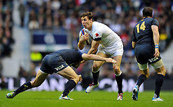 Joel Tomkins (England) in possession - Photo mandatory by-line: Patrick Khachfe/JMP - Tel: Mobile: 07966 386802 09/11/2013 - SPORT - RUGBY UNION -  Twickenham Stadium, London - England v Argentina - QBE Autumn Internationals.