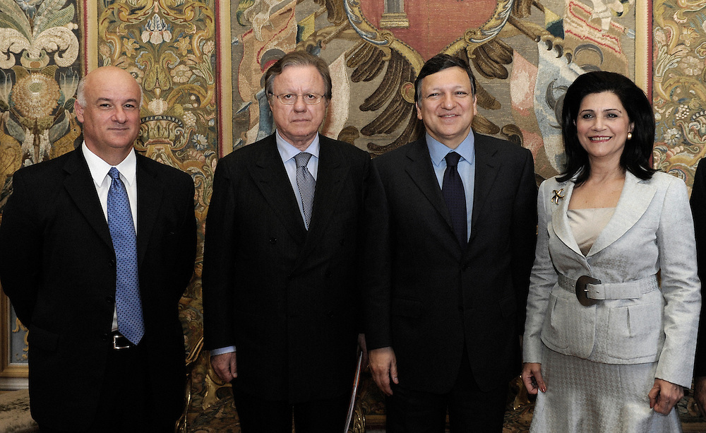 Italy - Rome - 19 May 2009 - European Maritime Day - Barroso - Borg Meeting - Joe BORG, European Commissioner for Maritime Affairs and Fisheries - Altero MATTEOLI, Minister of Infrastructures and Transport of the Republic of Italy - José Manuel BARROSO, President of the European Commission - Rodi KRATSA-TSAGAROPOULOU.Vice-President of the European Parliament © EC/CE