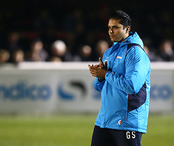 March 21, 2018 - Dagenham, England, United Kingdom - Gary Singh who paid  2500.00 to manager for the game .during Friendly match between Dagenham and Redbridge against West Ham United at Chigwell Construction  stadium, Dagenham England on 21 March 2018. (Credit Image: © Kieran Galvin/NurPhoto via ZUMA Press)