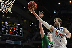 May 31, 2017 - Madrid, Madrid, Spain - Andres Nocioni (R), #7 of Real Madrid in action during the first game of the semifinals of basketball Endesa league between Real Madrid and Unicaja de Málaga. (Credit Image: © Jorge Sanz/Pacific Press via ZUMA Wire)