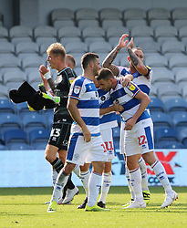 Queens Park Rangers' celebrate their victory