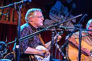 Tom Legenhausen playing banjo for the Canebrake Rattlers at the Brooklyn Folk festival.