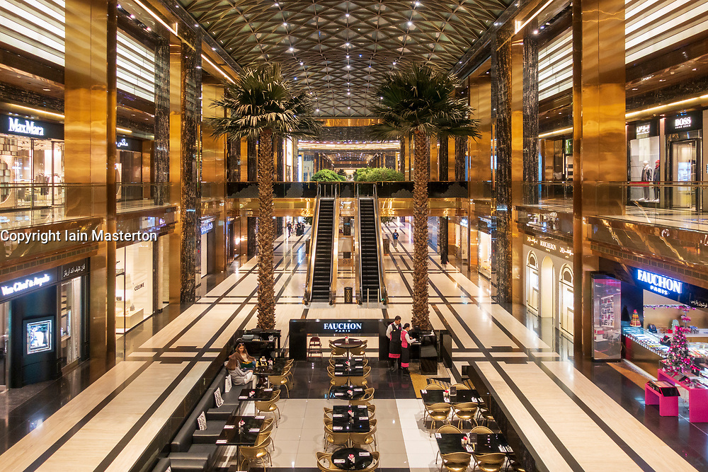 Interior of new Prestige luxury arcade with high-end boutiques inside The Avenues shopping mall in Kuwait City, Kuwait