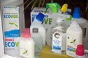 Ecological cleaning products shop window display