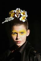 May 02, 2008 - Sydney, Australia - A model backstage before the Akira show at Rosemount Australian Fashion Week in Sydney..(Credit Image: © Marianna Day Massey)