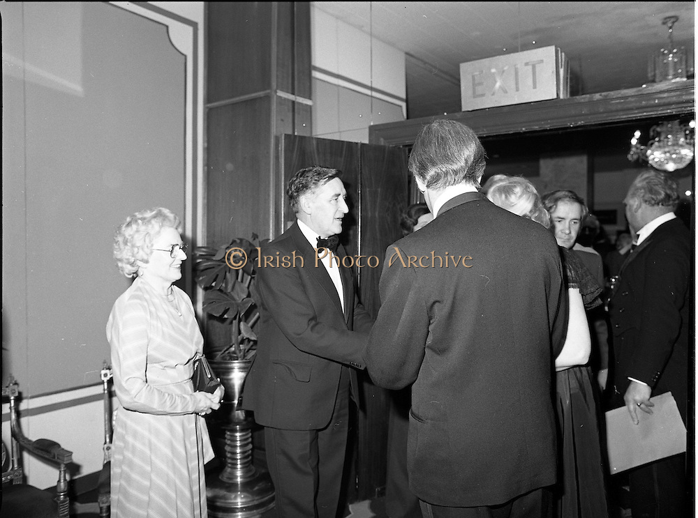 18/01/1981<br /> 01/18/1981<br /> 18 January 1981<br /> Texaco Sportsters awards at the Burlington Hotel, Dublin.