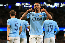 17th October 2017 - UEFA Champions League - Group F - Manchester City v Napoli - Gabriel Jesus of Man City celebrates after scoring their 2nd goal - Photo: Simon Stacpoole / Offside.