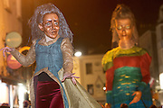 25/10/2015 Macnas on the streets of Galway. 'The Shadow Lighter' featured the new Macnas character of Danu – a 15 ft high wild woman, the shadow lighter mistress of old stories, magic and medicine. Alongside her walked Danu's spirit animal, The Wolf of Danu, a beautiful, strong and fierce wolf, circling around Danu to protect her.  <br /> <br /> DUBLIN MONDAY NIGHT.<br /> Macnas will close the Bram Stoker Festival at twilight on Monday 26th October. In what is set to be another breath-taking citywide procession, Dublin's city streets will transform as the journey of Danu takes place, beginning in 3 city centre locations at 5.30pm with a final gathering in Wolfe Tone Square. This is a deadly adventure given life on the streets of Dublin.  Procession routes will be available to see and download from bramstokerfestival.com .Photo:Andrew Downes, xposure