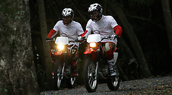 File photo dated 17/10/2008 of Princes William (right) and Harry ride their motorbikes as they pose for photographers on the eve of the start of the Enduro Africa charity ride in Port Edward, South Africa.