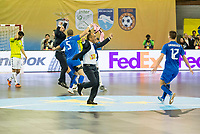 Ugra Yugorsk's celebrating the victory during UEFA Futsal Cup 2015/2016 Final match. April 22,2016. (ALTERPHOTOS/Acero)