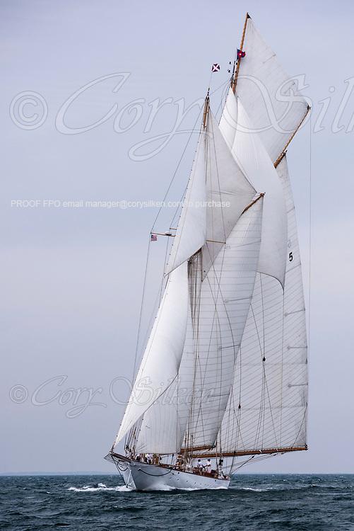 Eleonora sailing in the Sail Nantucket Regatta, day one.