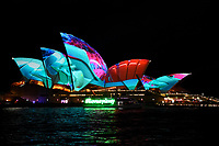 SydneyOpera House lit up for Vivid Sydney 2017