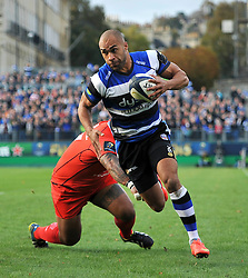 Olly Woodburn of Bath Rugby - Photo mandatory by-line: Patrick Khachfe/JMP - Mobile: 07966 386802 25/10/2014 - SPORT - RUGBY UNION - Bath - The Recreation Ground - Bath Rugby v Toulouse - European Rugby Champions Cup