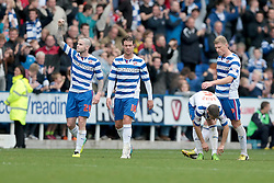 Reading's Danny Guthrie celebrates after scoring his second goal - Photo mandatory by-line: Nigel Pitts-Drake/JMP - Tel: Mobile: 07966 386802 28/09/2013 - SPORT - FOOTBALL - Madejski Stadium - Reading - Reading V Birmingham City - Sky Bet Championship