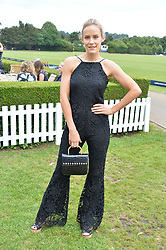 Hum Fleming at the Laureus King Power Cup polo match held at Ham Polo Club, Richmond, London England. 22 June 2017.<br /> Photo by Dominic O'Neill/SilverHub 0203 174 1069 sales@silverhubmedia.com