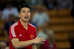 14.09.2014, Centennial Hall, Breslau, POL, FIVB WM, Kuba vs China, 2. Runde, Gruppe F, im Bild Xie Guochen china trener head coach // Xie Guochen china trener head coach during the FIVB Volleyball Men's World Championships 2nd Round Pool F Match beween Cuba and China at the Centennial Hall in Breslau, Poland on 2014/09/14. EXPA Pictures © 2014, PhotoCredit: EXPA/ Newspix/ Sebastian Borowski<br /> <br /> *****ATTENTION - for AUT, SLO, CRO, SRB, BIH, MAZ, TUR, SUI, SWE only*****