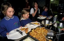 Primary school dinner - chips UK