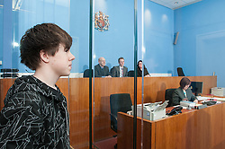 Defendant in the dock in a magistrates court
