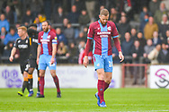 Kevin van Veen of Scunthorpe United (10) reacts to going 3-0 down during the EFL Sky Bet League 1 match between Scunthorpe United and Bradford City at Glanford Park, Scunthorpe, England on 27 April 2019.