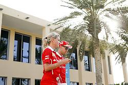 November 23, 2017 - Abu Dhabi, United Arab Emirates - Motorsports: FIA Formula One World Championship 2017, Grand Prix of Abu Dhabi, .Britta Roeske (GER), #5 Sebastian Vettel (GER, Scuderia Ferrari) (Credit Image: © Hoch Zwei via ZUMA Wire)