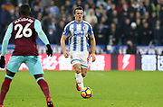 Huddersfield Town's Jonathan Hogg during the Premier League match between Huddersfield Town and West Ham United at the John Smiths Stadium, Huddersfield, England on 13 January 2018. Photo by Paul Thompson.