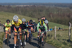 Rachele Barbieri battles up the VAMberg for the final time  - Drentse 8, a 140km road race starting and finishing in Dwingeloo, on March 13, 2016 in Drenthe, Netherlands.