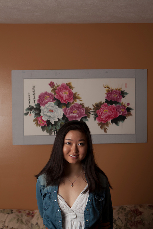 28 May 2012- Yan Zhang is photographed at her home for Omaha Magazine.