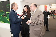 SIMON DE PURY; IDIT ORNI; ISRAELI AMBASSADOR TO LONDON, opening of the 2010 Frieze art fair. Regent's Park. London. 13 October 2010. -DO NOT ARCHIVE-© Copyright Photograph by Dafydd Jones. 248 Clapham Rd. London SW9 0PZ. Tel 0207 820 0771. www.dafjones.com.