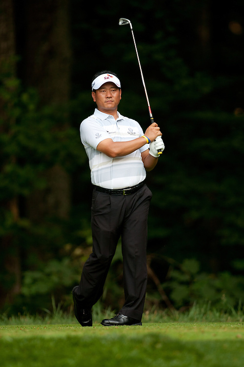 K.J. Choi of South Korea plays a tee shot during the second round of the 2012 AT&T National at Congressional Country Club in in Bethesda, Maryland on June 29, 2012. (Photograph ©2012 Darren Carroll) *** Local Caption ***K.J. Choi