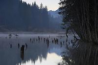 Red Lake, Cheile Bicazului-Hasmas National Park, Carpathians, Transylvania, Romania,